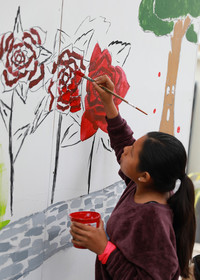 Teen Mural Project 2019 Teens Paint