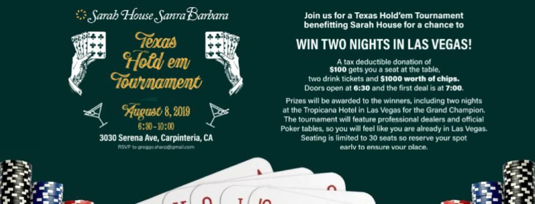 Texas Holdem Tournament Sarah House Santa Barbara