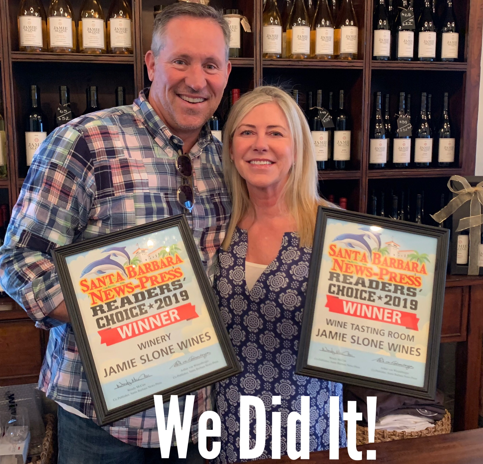 We Did It... 2019 Favorite Winery and Favorite Tasting Room!