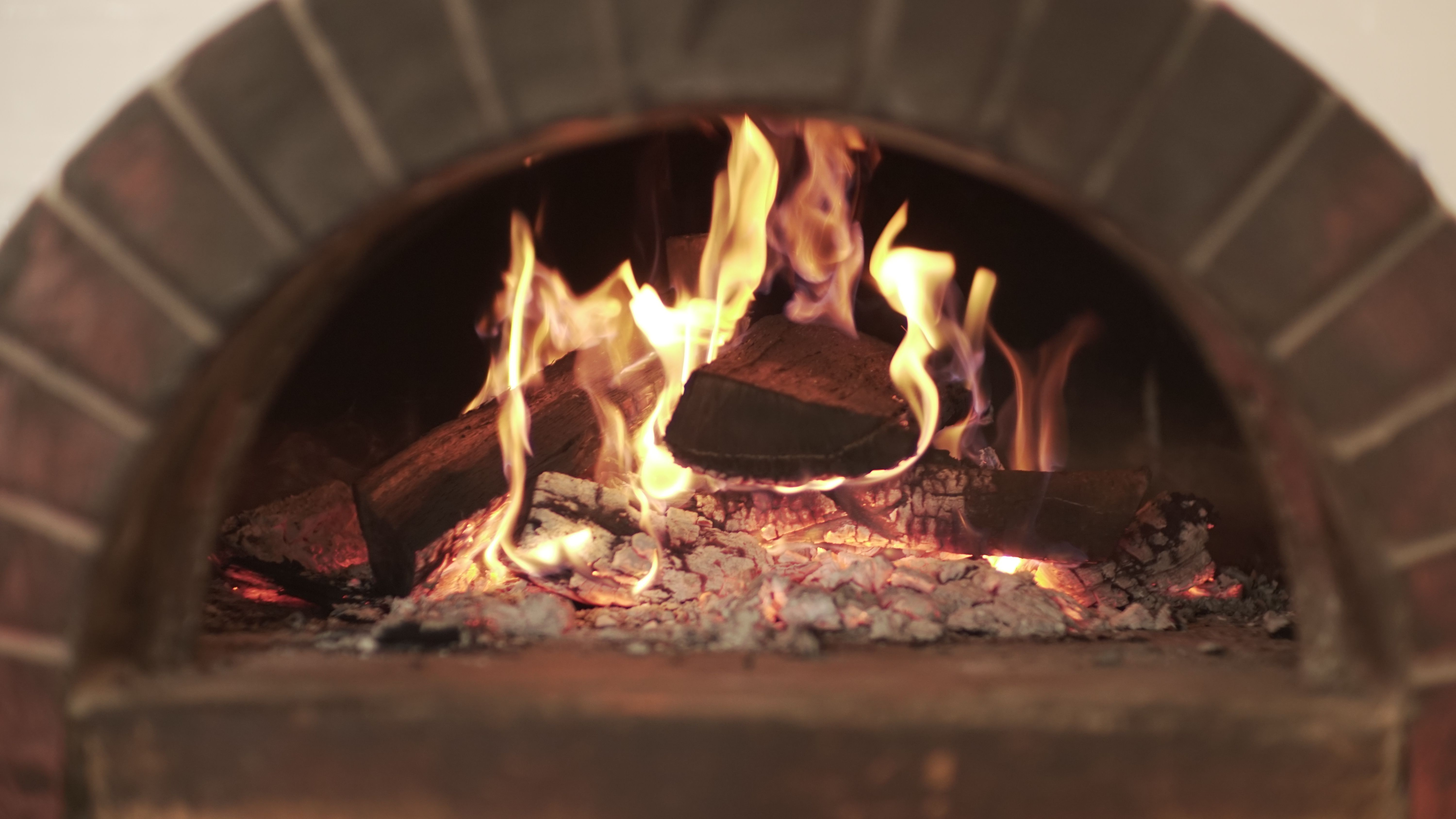 Warm Cooked Meals in our Italian Wood-burning Stove
