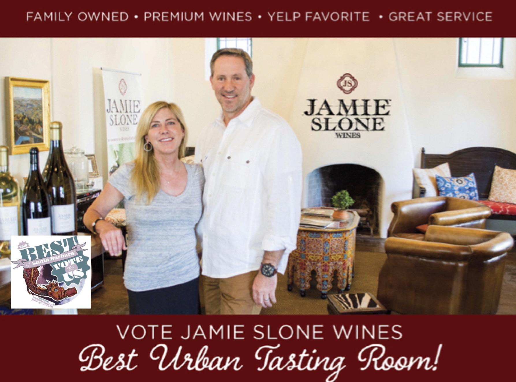 Vote Jamie Slone Wines Best Urban Tasting Room!