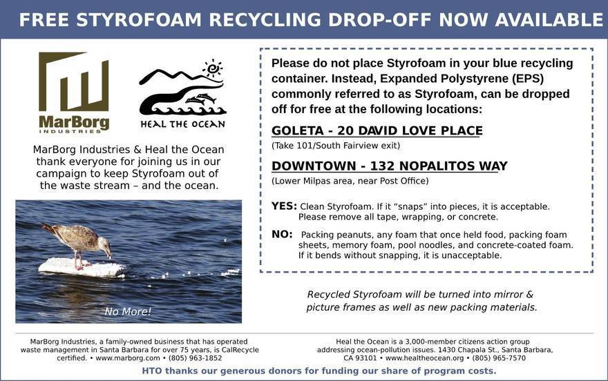 Free Styrofoam Recycling Drop-Off MarBorg Industries