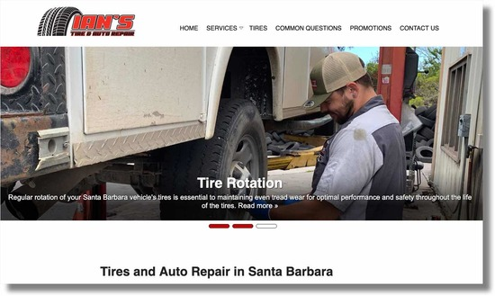 Ian's Tire and Auto Repair Home