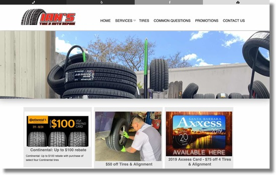 Ian's Tire and Auto Repair Promotions
