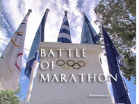 Stock Footage Marathon Greece Miltiades Battle of Marathon Kimon Pheidippides Pheiddipides