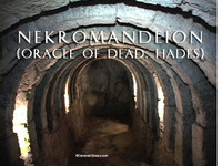 Stock Footage of the Nekromanteion Necromanteion Oracle of the Dead Entrace to Hades Hell Persephone Acheron Pyriphlegethon Cocytus Styx Charon Ferryman Tiraseus Cerebrus 3 headed hound dog