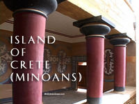 Stock Footage of Greek Island of Crete Minoans Minos Minotaur Labyrinth Knossos Phestus Pheastos Palaces Theseus Ariadne Bull
