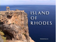 Stock Footage of the Greek Island of Rhodes Greece Temple Athena Beautiful Lindos Venetian Fortress Medieval Castle Laocoon