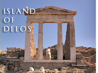 Stock Footage of the Greek Island of Delos Greece Ancient Delian League Athenian Treasury Temple Apollo Lions