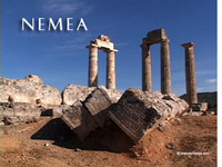 Stock Footage of Nemea Greece Nemean Ancient Athletic Games Temple Zeus Jupiter Wine Country