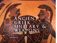 Stock Footage of Ancient Greek Military and Weapons Greece