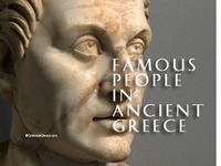Stock Footage of Statues Art Famous People Ancient Greece Greek Menander Sophocles Euripides Socrates Plato Aristotle Philosophers Drama Comedy Tragedy Theater Pericles Politicians