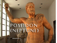 Stock Footage of Poseidon Neptune Art Stautes Ancient Greece Greek God of the Sea Earthquakes
