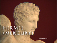 Stock Footage of Hermes Mercury Art Stautes Ancient Greece Greek God