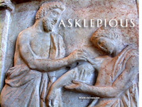 Stock Footage of Asklepios Asclepios Asklepius Ascleipus Art Stautes Ancient Greece Greek God of Healing Medicine
