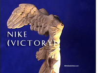 Stock Footage of Nike Victory Art Stautes Ancient Greece Greek Goddess of Victory