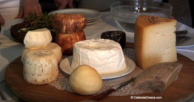 A Greek Islands Destination Cooking Class Cheeses Image