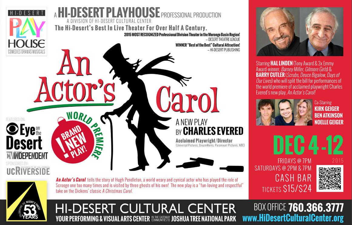 Hi-Desert Cultural Center   An Actor's Carol-7