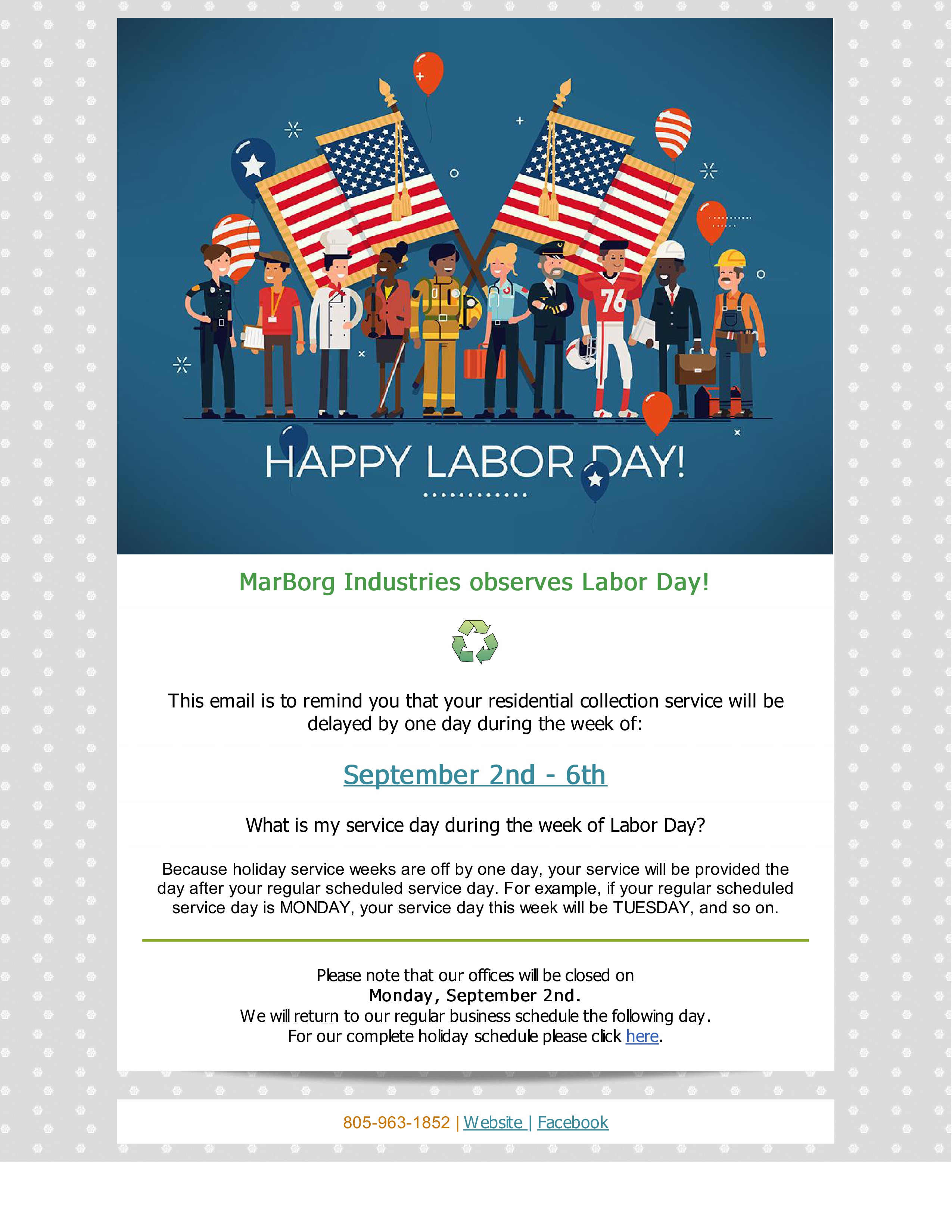 Marborg Industries Observes Labor Day-2