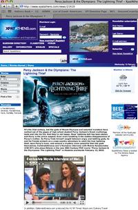"Our Cynthia Daddona interviews Melina Kanakarides (""Athena"") on her movie, <em>Percy Jackson and the Olympians: The Lightning Thief</em>"