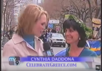 Cynthia Daddona for CelebrateGreece.com on New York City's My9 Fox Television