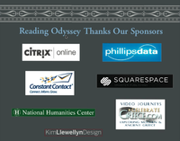 Reading Odyssey's sponsorship page during Prof. Paul Cartledge's Marathon2500 lecture