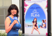 Cynthia Daddona interviews Celebrites and Movie Starts at the World Premiere Red Carpet of the Hollywood comedy My Life in Ruins and the star's reaction to our video coverage