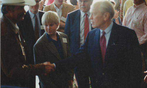 President Ford with David Ewell of Presidio Painting