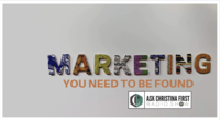 Marketing-You Need to Be Found