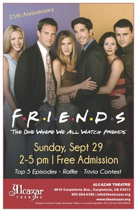 FREE EVENT: Friends 25th Anniversary