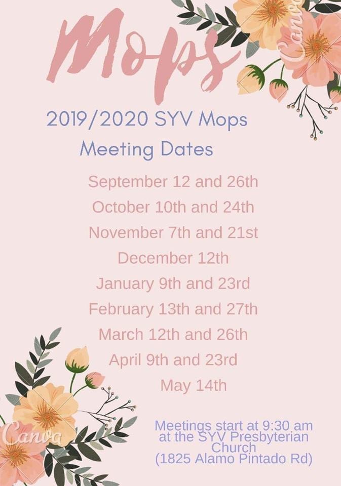 SYV MOPS Meeting - Every Thursday