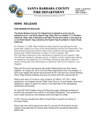 Riley Retirement News Release
