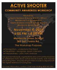 Active Shooter Community Workshop, November 4, 2019
