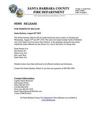 Sewer Smoke Test News Release