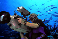 Underwater Rentals -Amphibicam HDW F-900 in action