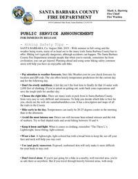 PSA Hiking Safety Tips