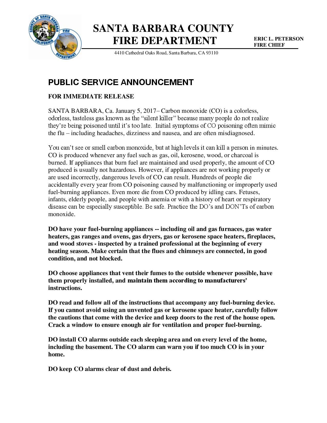 PSA Carbon Monoxide Alarms-pg1
