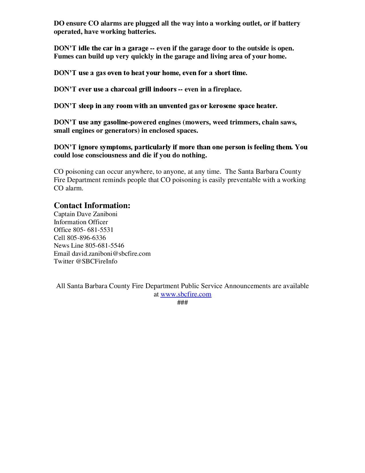 PSA Carbon Monoxide Alarms-pg2