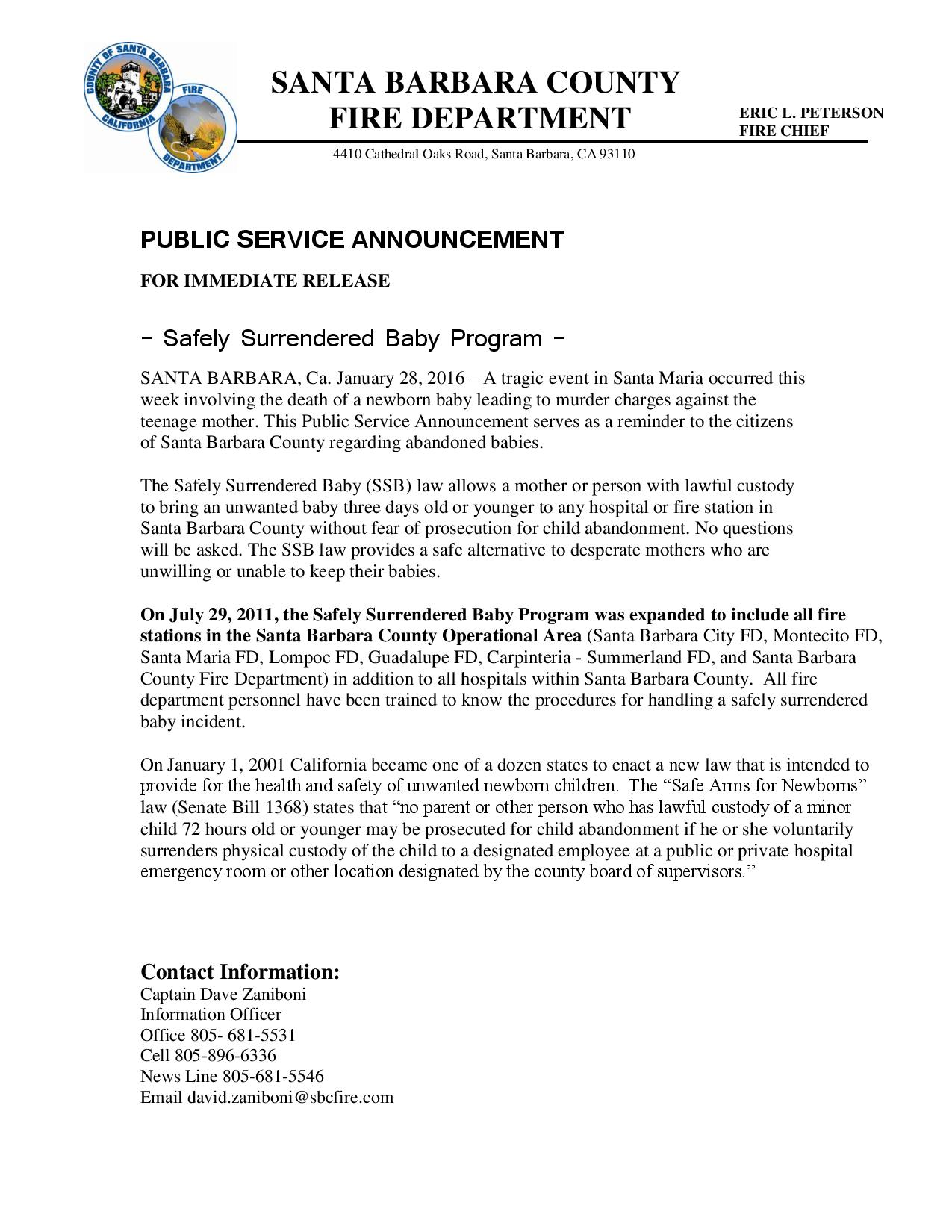Safely Surrendered Baby Program-pg1