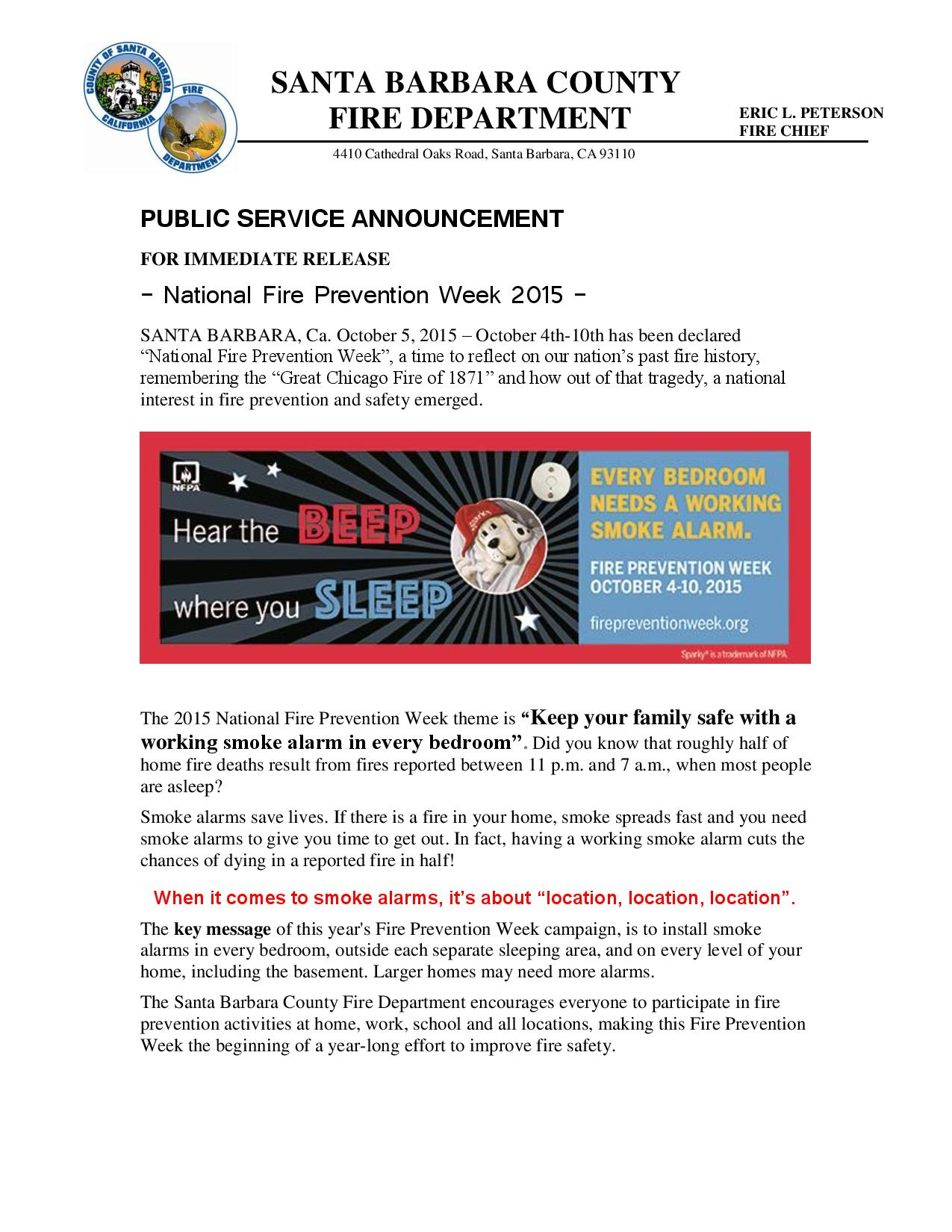 National Fire Prevention Week 2015-pg1