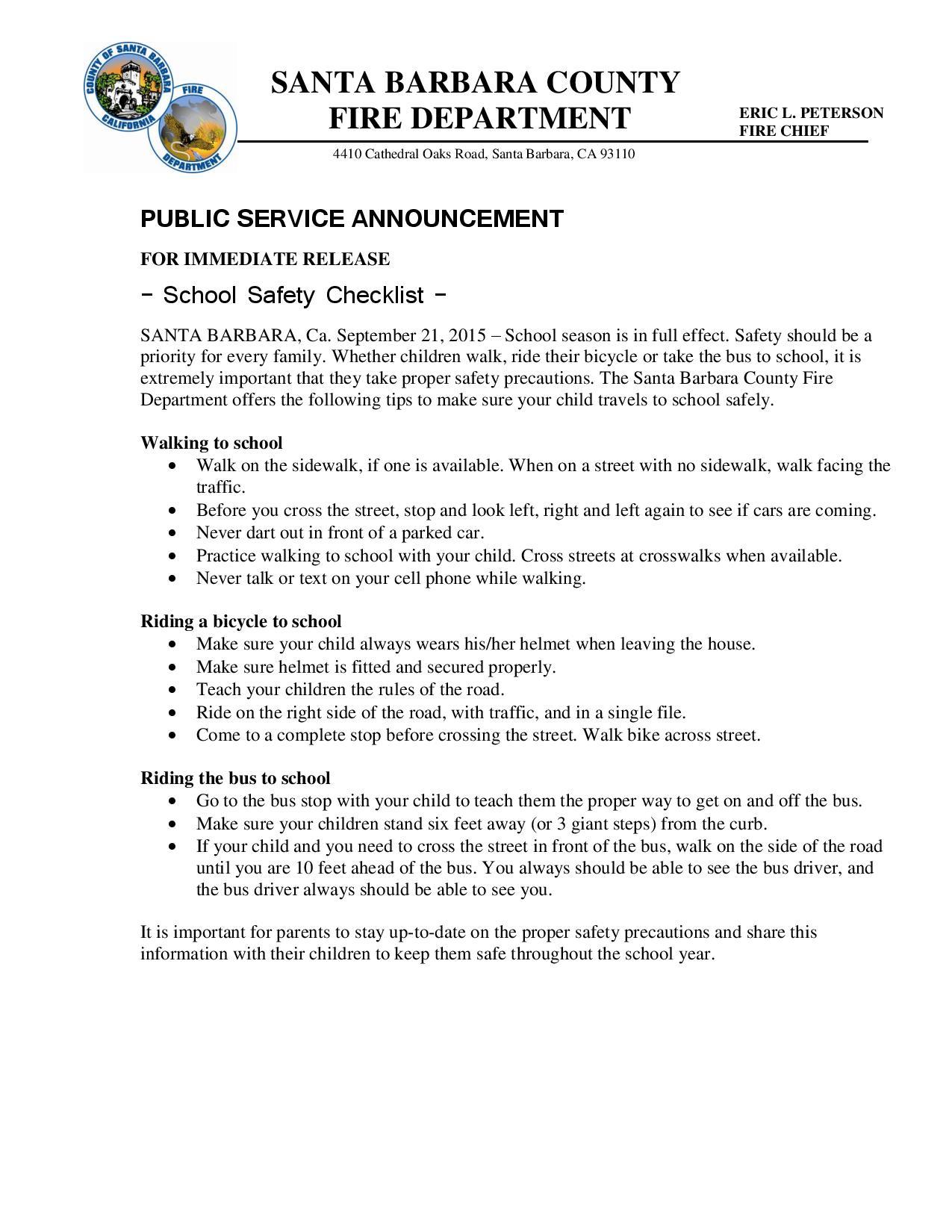 School Safety Checklist-pg1