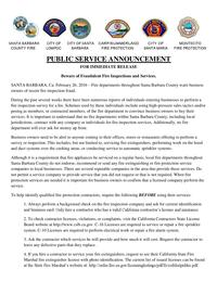 Beware of Fraudulent Fire Inspections and Services