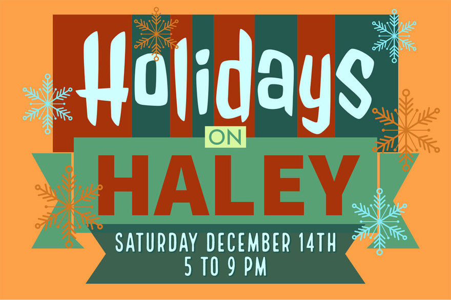 Holidays on Haley Postcard - Front