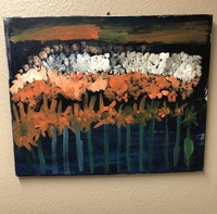acrylic floral landscape painting by artist Erin Ziegler