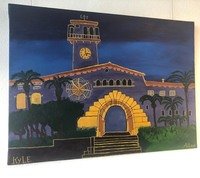 acrylic painting of the Santa Barbara Courthouse by artist Kyle Allan