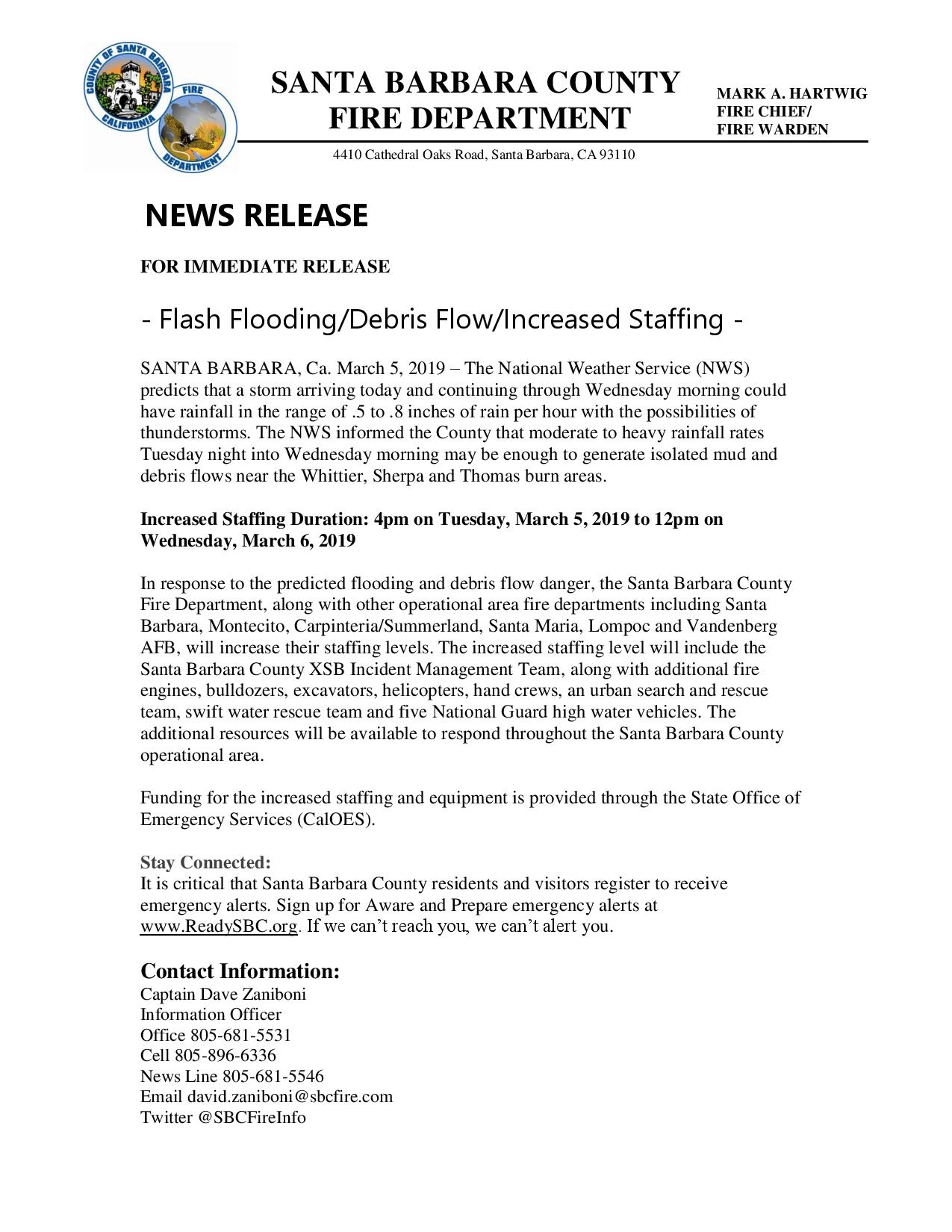 Flash Flooding/Debris Flow/Increased Staffing-pg1