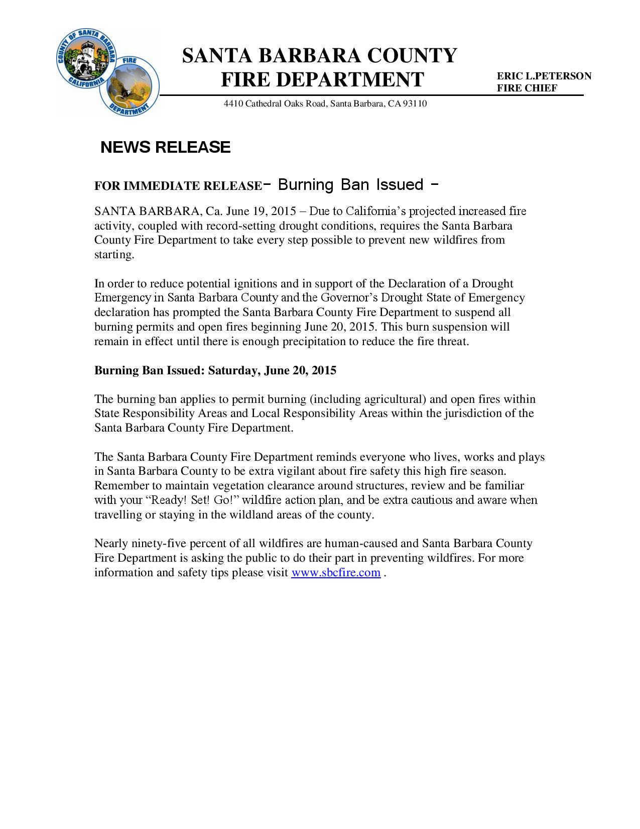 Burning Ban Issued-pg1