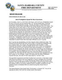 Firefighters Quest for Burn Survivors