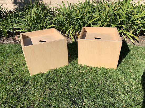 Custom Package handmade maple wood boxes to cover weights