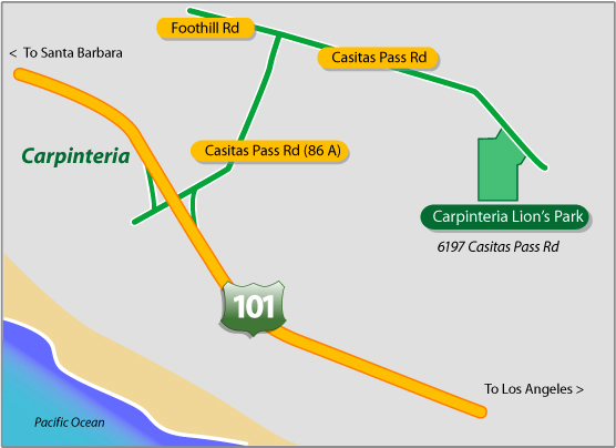 Lions Park Carpinteria Map